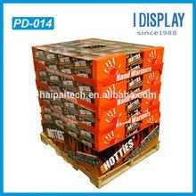 eye-catching Supermarket floor stand display racks, cardboard display shelf for box-packed object