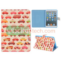 Cute Cartoon Car Pattern for iPad Mini 2 leather case