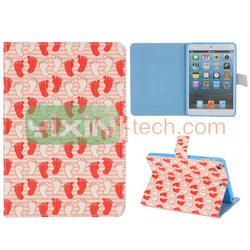 for iPad Mini 2 leather case,for ipad mini 2 magnetic case, cute cartoon design case