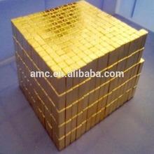 Gold coating ndfeb magnet block