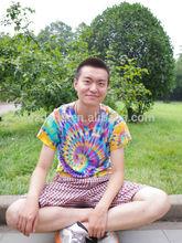 Ropa hippie/venta al por mayor ropa hippie/tie dye camisas de t