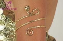 Sunshine Jewelry Gold Tone Upper Arm Snake Bracelet