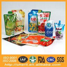 soft plastic printed laminated packing materials walnut juice bag
