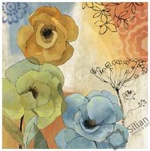 simple flower MDF board painting