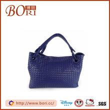 promotional shopping plain decorating large leather shoulder tote bag