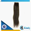 Venta caliente baratos 8-36inch grandes longitudes virgen cinta brasileña en extensiones de cabello humano