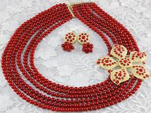 High quality fashion design african bead jewelry set 2014 BJ0010