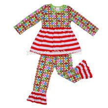Newborn Fall girls boutique clothing sets Long short&pant set Fashion design 2014 High quality cotton little girls outfits sets