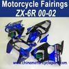 Factory Direct Sales 00 01 02 Zx6r fairing for Kawasaki ninja zx6r 636 Blue Monster FFKKA003