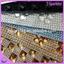 clothes accessories epoxy rhinestone sticker for jewelry