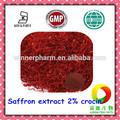 Extrait de safran en poudre/2% crocine/n ° cas. 42553-65-1