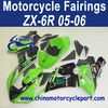 Custom Design 05 06 For Kawasaki Zx6r Motorcycle Body Kits Green Monster FFKKA005