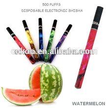China supplier wholesale 500 puffs big vapor blister packaginge hookah pen.Cheap e hookah shisha pen with many good flavors.