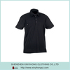 Black Color Wholesale Mens Dri Fit Polo Shirts Pocket