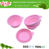 china supplier hot sale novelty promotion durable food grade collapsible silicone pet bowls