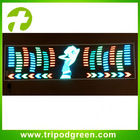Sound frequency sensor led/el removable window stickers for cars