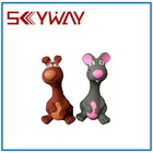 Squeaky Latex Rubber Dog and Mouse pet toy