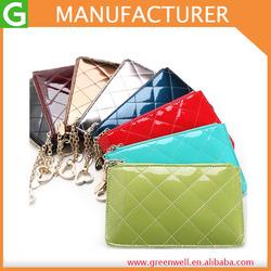 2014 Women's Cute Coin Purse Leather Zipper Short Design Day Clutch Bag Small Mobile Phone Bag Female Thin Wallet