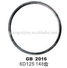 good quality excavator engine 6D125 148 teeth flywheel ring gear