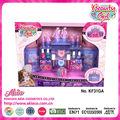 مستحضرات التجميل الملونة الرائعة بيت بلاستيكي لعبة رخيصة طفل اللعب