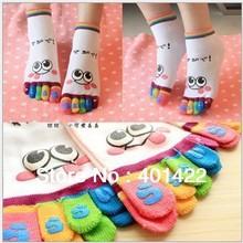 Five fingers cartoon toe socks women's stockings anti-barbiers socks novelty socks promotion gift JPsocks174