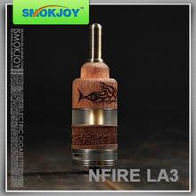 Smokjoy new coming high quality wooden N fire la 3 e-cig nemesis mod