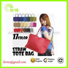 new designed corn husk wholesale straw bag