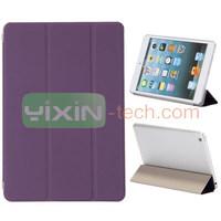 For Apple iPad Mini 2 Flip leather case,Purple cover For Apple iPad Mini 2