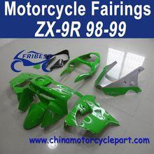 Factory Direct Sales 98 99 For Kawasaki Zx9r Motorcycle Fairings Cheap Green And Silver Flame FFKKA008