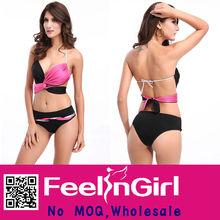 wholesale beach girl black with red new hot sex woman bikini