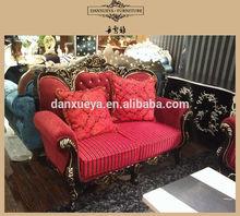 Royal fabric sofa red sectional sofa