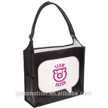 Trade Show Tote with side pocket and adjustable shoulder strap Sling bag