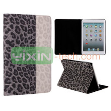 Fashion Stand Elegant Wallet Leopard Case for iPad Mini 2 Leather Case