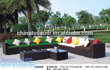 Great outdoor leisure sofa/outdoor garden set with free pillows
