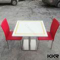 superfície sólida dois assentos artificial mármore mesas de jantar