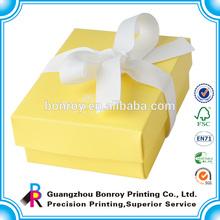 Paper custom logo printed waxed small cardboard jewelry boxes
