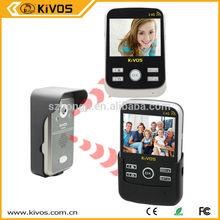 """High quality 2.4G wireless video door phones 3.5"""" lcd screen"""
