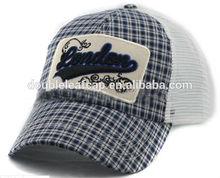 Children Plaid Custom Logo 5 Panel camp Cap ,Snapback cap and hat