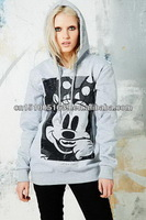 Apparel stocklots womens hoodie with knit fabric