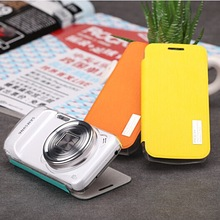 For samsung s4 zoom c101 Rock leather Case Smart Cover