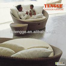 Rattan sunbed outdoor furniture bed 109008