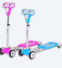 2014 new fashion 4 wheels frog kick scooter, froggy scooter