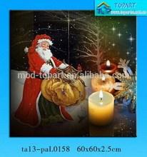 New Christmas theme LED light printing canvas