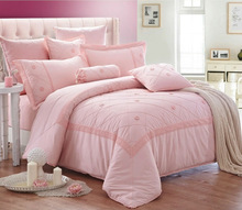 Polycotton wholesale embroidery comforter sets bedding set 10pcs comforter set for Middle wast made in china