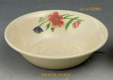 3408H--3508H 8'Melamine wholesale plastic fish bowls/RIM BOWLING 175G