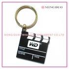 metal hollywood keychain film keyring, logo c