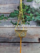 cheap opp packing indoor out side macrame plant hanger .flower pot holder