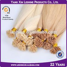 Italian glue SGS&BV certified double drawn wholesale virgin remy cheap human hair unique flat tip hair extensions