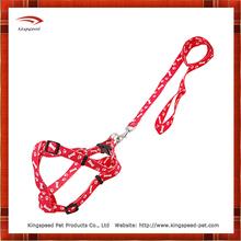 Red Paws Bones Print Dog Leash