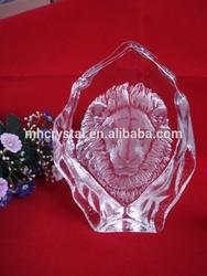 New Crystal lion Iceberg For Wedding Souvenir MH-10090